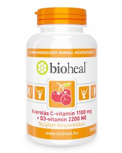 Acerolás C-vitamin 1100 mg + D3-vitamin 2200 NE (105 db)