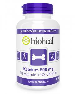 Kalcium 500 mg + D3-vitamin + K2-vitamin (70 db)