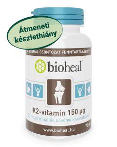 K2-vitamin 150 μg D3-vitaminnal és növényi kivonatokkal (70 db)